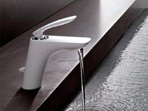 Kludi Balance baterija slavina za umivaonik (bela) 520239175