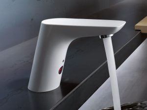 Kludi Balance senzorska baterija slavina za umivaonik (bela) 5220091