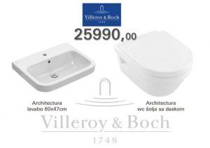 villeroy boch set lavabo i wc-solja