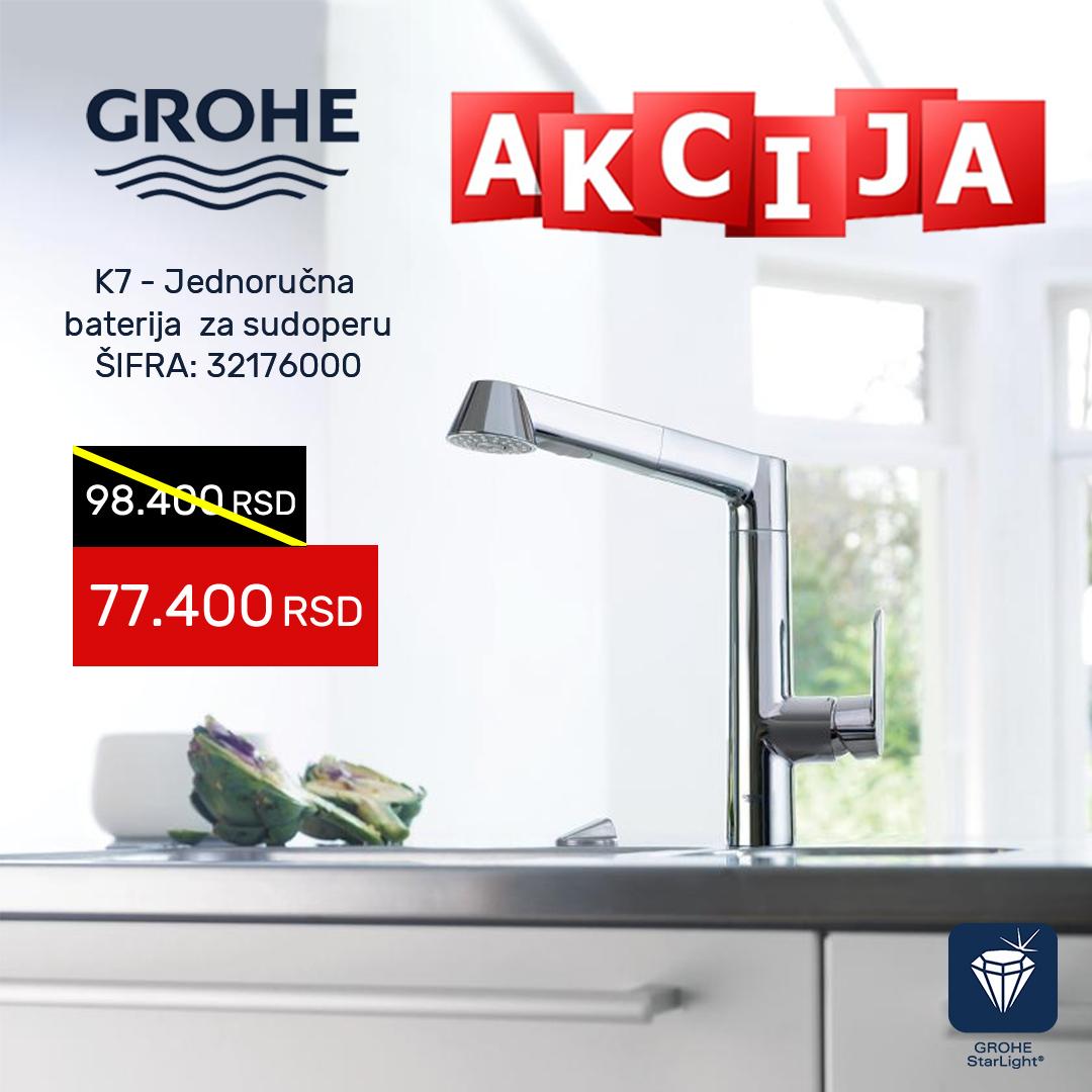 Grohe K1 AKCIJA jednoručna baterija za sudoperu 32176000