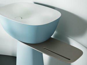 Milo samostojeći umivaonik 70x51 Blue/White 592920