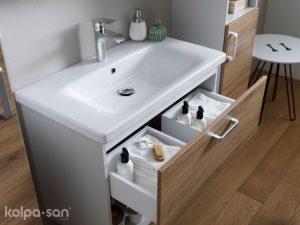 Ormarić Evelin sa umivaonikom OUE 65 II Gray/Oak 573880 Kolpa san