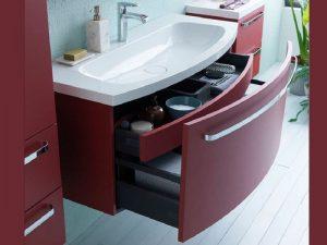 Adele toaletni ormarić sa umivaonikom crveni OUA 110 RED 528690 Kolpa san