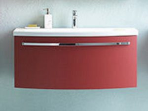 Adele toaletni ormarić sa umivaonikom crveni OUA 90 RED 528660 Kolpa san