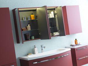 Adele toaletni ormarić sa ogledalom i LED svetlom TO 90 RED 528600 Kolpa san