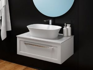 Umivaonik Blanche od livenog mermera UB 75 White 561500