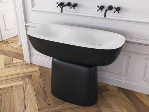 Milo umivaonik dupli 120x60 Black/White 561630 Kolpa san